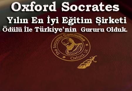 Oxford Socrates Yılın En İyi Yurtdışı Eğitim Ödülü'nü Kazandık