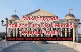 Makedonya Üniversiteleri Kayıtlarımız Başladı